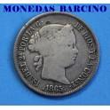 1865 - ISABEL II - 40 CENTIMOS - BARCELONA