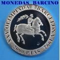 1991 - BARCELONA - 2000 PESETAS - JINETE IBERICO