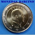 2016-  MONACO -2 EUROS - ALBERTO II-monedadbafcino