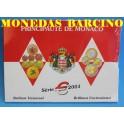 2001 - MONACO - EUROS - BLISTER  -RAINIERO