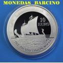 2011 - MALTA - 10 EUROS - PLATA - LOS FENICIOS -BARCO