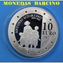 2012 - MALTA - 10 EUROS - PLATA - ANTONIO SCIORTINO