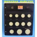 2011 - PARDO - HOJAS  COLECCION  EUROS 11 esp.