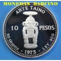1975 - REPUBLICA DOMINICANA - 10 PESOS - ARTE TAINO