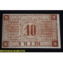 1919 -  RUMANIA -ROMANIA  - 10 FILERI - BILLETE - BANKNOTE