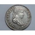 1821 - FERNANDO VII -1/2 REAL - GUATEMALA