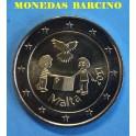 2017 - MALTA - 2 EUROS - NINOS Y PALOMA DE LA PAZ