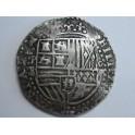 1596- 1612 - FELIPE II/ III - BOLIVIA POTOSI-8 REAL COB