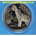 2017 - AUSTRIA - 3 EUROS - WOLF - LOBO Y LUNA