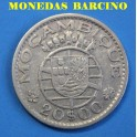 1960 -  MOZAMBIQUE - 20 ESCUDOS - REPUBLICA PORTUGUESA