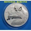 2017- TUVALU - 1  ONZA - 1 DOLLAR -SPIDERMAN - MARVEL - PLATA