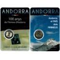 2017 - ANDORRA - 2 EURO - HIMNO Y PIRINEOS -2 COINCARD