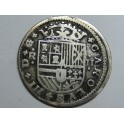 1708 -  CARLOS III - 2 REAL- REALES - BARCELONA- PLATA -