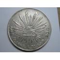 1892 - MEXICO - 8 REALES -  GORRO - LIBERTAD - PLATA