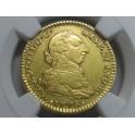 1776 - 2 ESCUDOS -CARLOS III-MEJICO- MEXICO-CHARLES III-GOLD-ORO