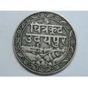 1928 -  INDIA  - 1/8 RUPEE  - MEWAR  - PLATA
