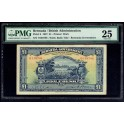 1927 - BERMUDA- GOVERNMENT BRITISH - 1 POUND - BILLETE BANKNOTE
