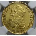 1776 - 2 ESCUDOS -CARLOS III-MADRID-CHARLES III-GOLD-ORO