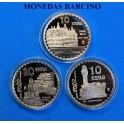2002- ESPAÑA - 10 EUROS - GAUDI - 3 MONEDAS -CAPRICHO -MILA-GUELL -