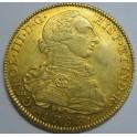 1787 - 8 ESCUDOS -CARLOS III- Santa Fe Nuevo Reino-CHARLES III-GOLD-ORO