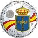 2018 - ESPAÑA - 30 EUROS - FELIPE VI Y LEONOR - ANIVERSARIO DE ASTURIAS - PLATA Y COLOR