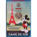 2018 - FRANCIA - -FRANCE - 10 EUROS - MICKEY MOUSE - LA DAMA DE HIERRO - PARIS PLATA