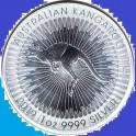 2019-  AUSTRALIA - 1 ONZA  DE PLATA -KANGURO - CANGURO - DOLLAR