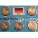 2011 - ALEMANIA - 5 MONEDAS DE 2  EUROS -  NIRTE WESTFALIA - 5 CECAS