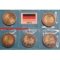 2013 - ALEMANIA - 5 MONEDAS DE 2  EUROS - BADEN-WURTTEMBERG - 5 CECAS