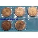 2009 - ALEMANIA - 5 MONEDAS DE 2  EUROS - EMU  - 5 CECAS