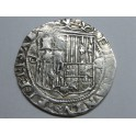1474  - REYES CATOLICOS - 1 REALES COB - ISABEL  Y FERNANDO -- SEVILLA -