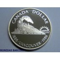 1986 - CANADA -  DOLLAR  - PROOF -  VANCOUVER   1886-1986  -PLATA