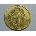 1786-CARLOS III- 1/2 ESCUDOS -MADRID- ESPAÑA  -GOLD-ORO
