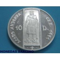 1994 - ANDORRA - 10 DINERS - PEDRO III -plata