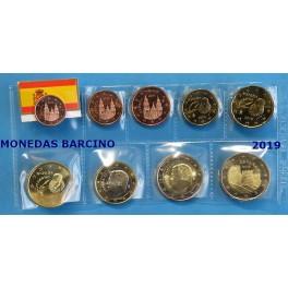 2019 -ESPAÑA -  EUROS - COLECCION DE EUROS MAS 2 EUROS CONMEMORATIVOS AVILA