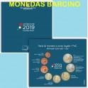 2019 - ITALIA -  EUROS - COLECCION DE 8 MONEDAS CARTERA BLISTER OFiCIAL-monedasbarcino