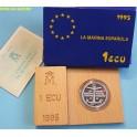 1995 - ESPAÑA - 1 ECUS -  MARINA ESPAÑOLA - ECU PLATA - monedasbarcino.com