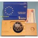 1998 - ESPAÑA -  5 EUROS - INFANTERIA -JUAN CARLOS I -PLATA-monedasbarcino.com