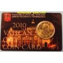 2010 VATICANO - EUROS - PAPA BENEDICTO XVI