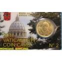 2011 VATICANO -  EUROS -50 CENTIMOS - COINCARD - BENEDICTO XVI-monedasbarcino.com