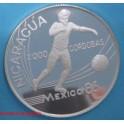 1988-  NICARAGUA - CORDOBAS - FUTBOL MEXICO 86 -monedasbarcino.com