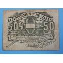 1937 -VALLS - 50 CENTIMOS - TARRAGONA - BILLETE PUEBLO-monedasbarcino.com