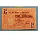 1937 - GUISSONA - 25 CENTIMOS - LLEIDA - BILLETE PUEBLO