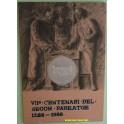 1988 - VATICANO MONEDA  -25 DINERS - PLATA - CENTENARIO -SEGUNDO PAREATGE - CON CARTULINA ORIGINAL