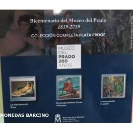 2019  - ESPAÑA - 10  EUROS - MUSEO DEL PRADO - ESTUCHE 3  PINTORES