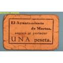 MARTOS -JAEN-MARTOS -JAEN - 1 PESETA - BILLETE PAPEL MONEDA