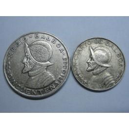 1947 - 1953 PANAMA - 1-2 1-4 BALBOA - REPUBLICA PANAMA - PLATA