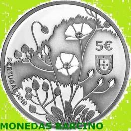 2019 PORTUGAL - 5 EUROS -  FLOR TUBERARIA MAJOR
