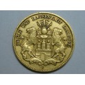 1875  - ALEMANIA - 10 MARCOS  - MARK - HAMBURG  - ORO - GERMANY