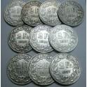 HElVETIA - 1914 -a 1937 -  SUIZA -  1/2  FRANCOS - 10 MONEDAS DIFERENTES -- SCHWEIZ